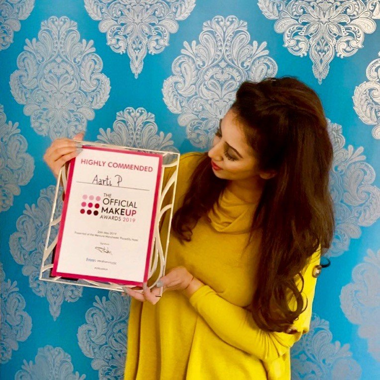 Aarti P Wins Highly Commended Make-Up Artist of The Year 2019