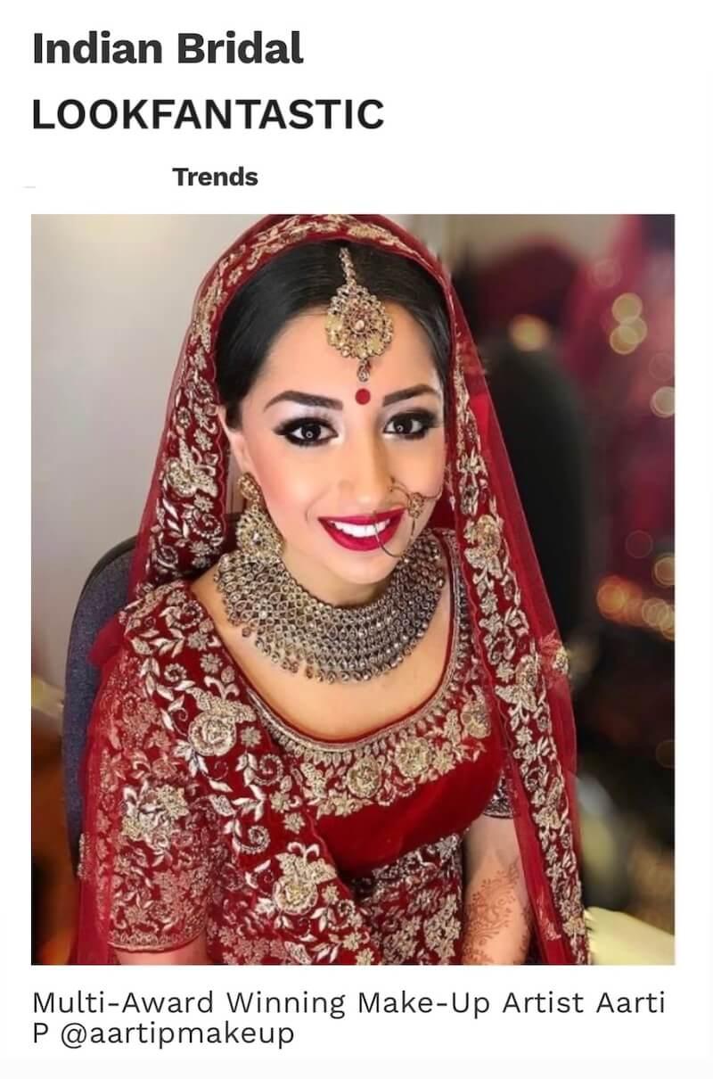 Aarti P lookfantastic in the Press